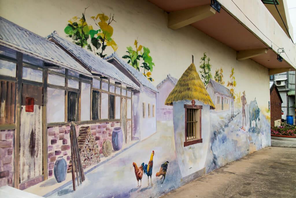 |桃園。蘆竹|坑口彩繪村-近桃園機場捷運A11 讓你想狂拍照的農村風情畫!