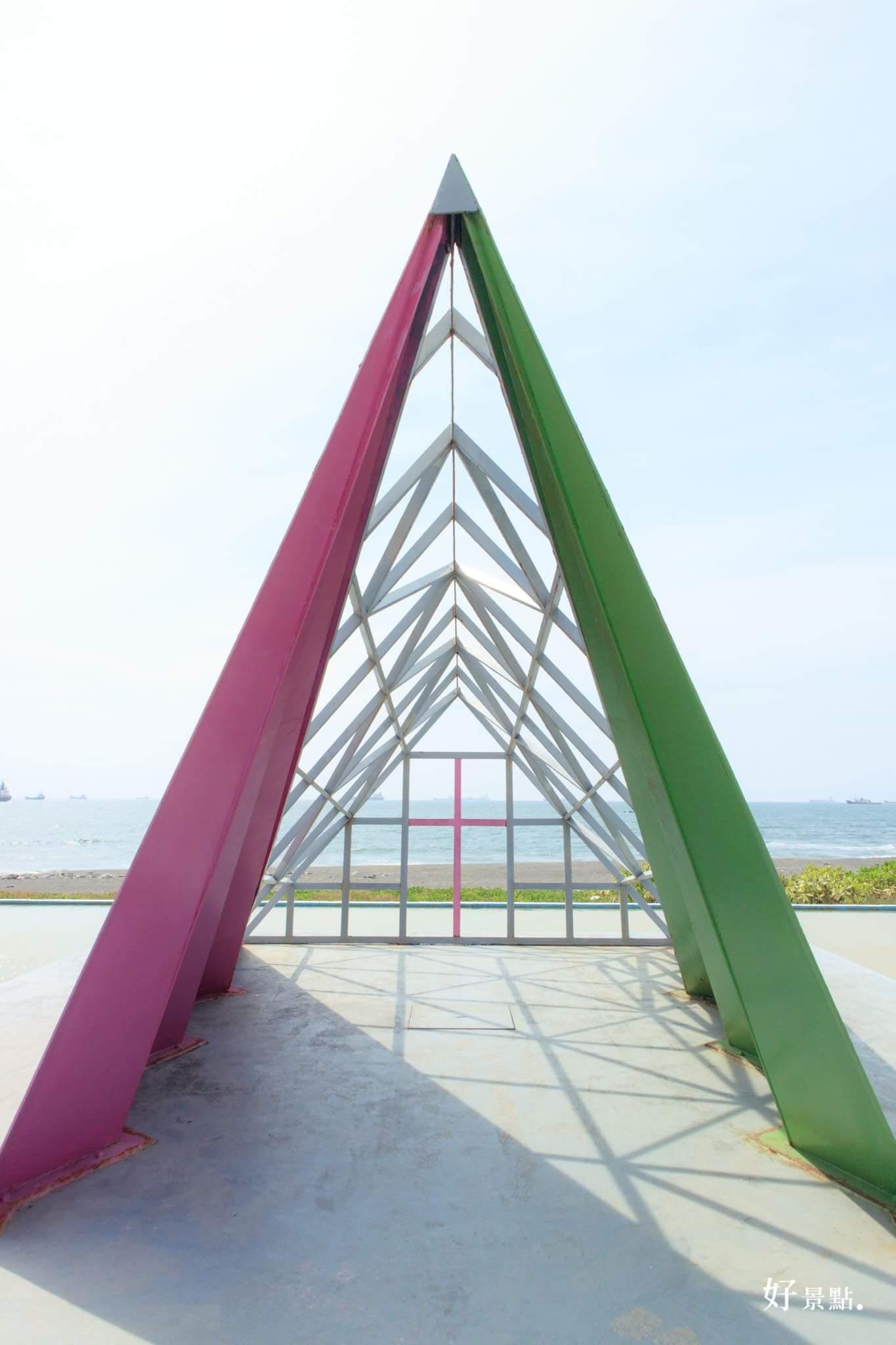 |高雄。旗津|彩虹教堂-夢幻色彩繽紛必拍景點!