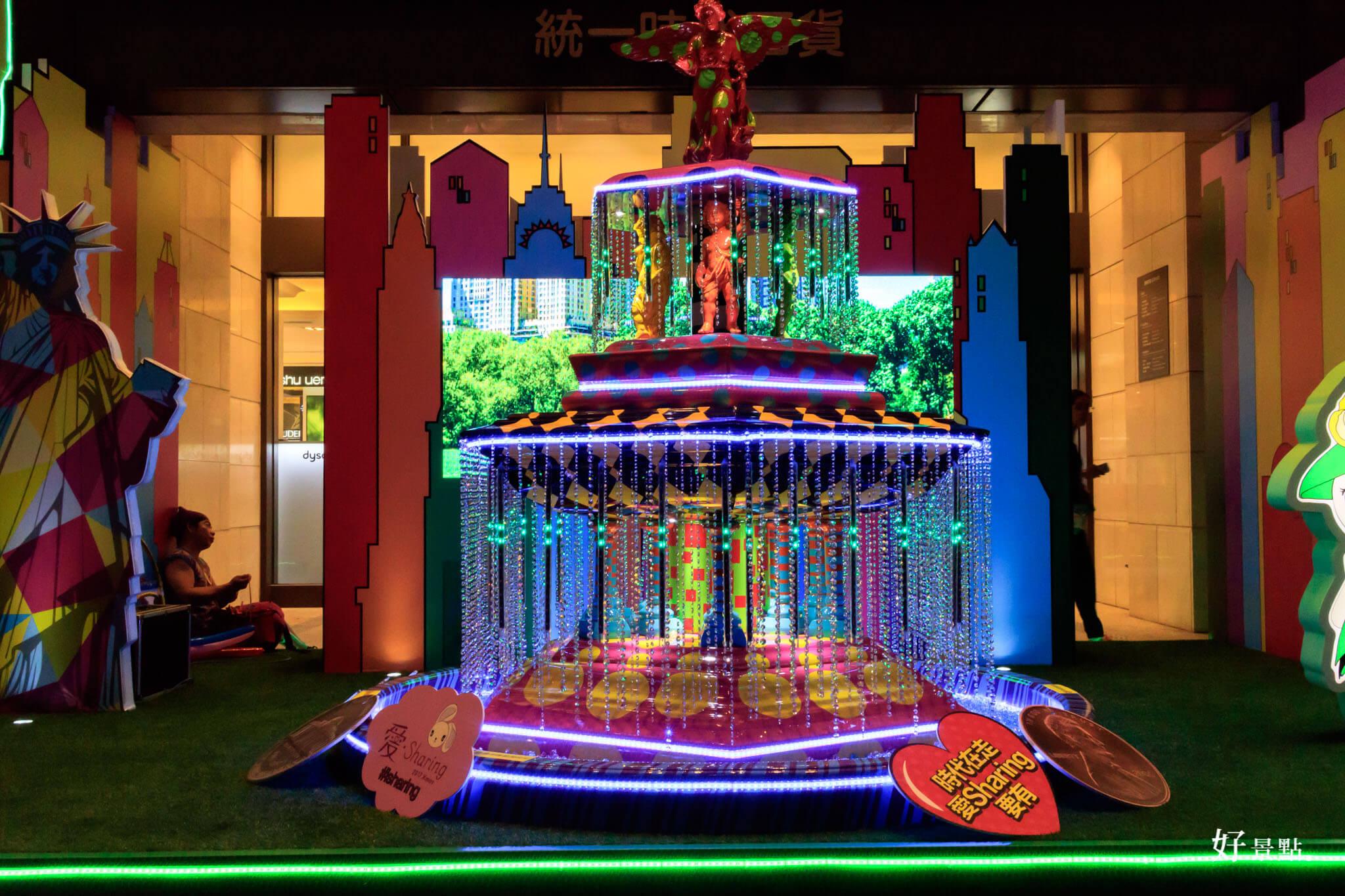 |台北。信義|統一時代百貨「愛.Sharing」Purple Wish 燈光秀!紫色聖誕樹超夢幻!