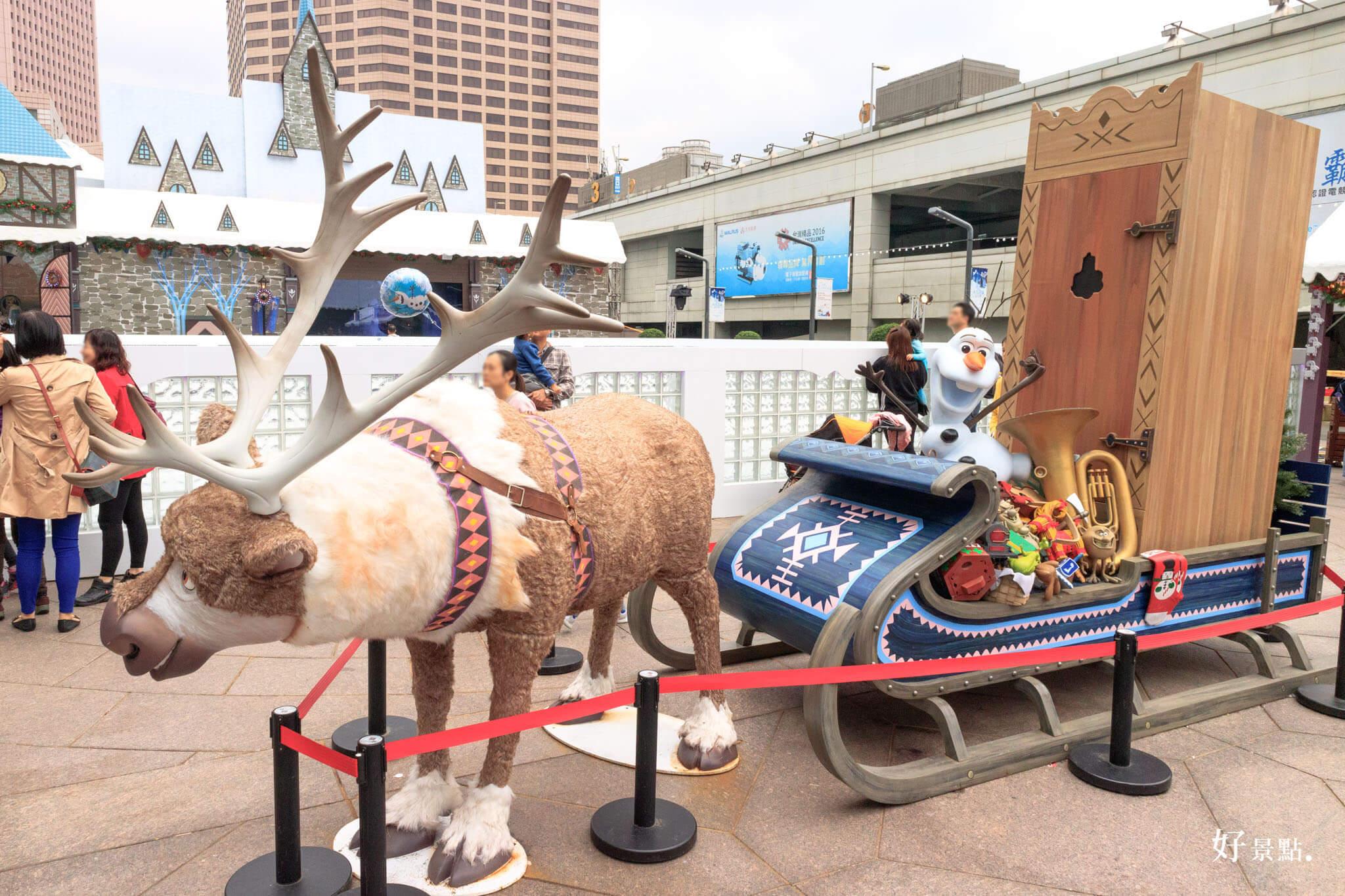 |台北。信義|迪士尼冰雪奇緣嘉年華-雪怪、艾莎、安娜、雪寶、冰晶聖誕樹超好拍照
