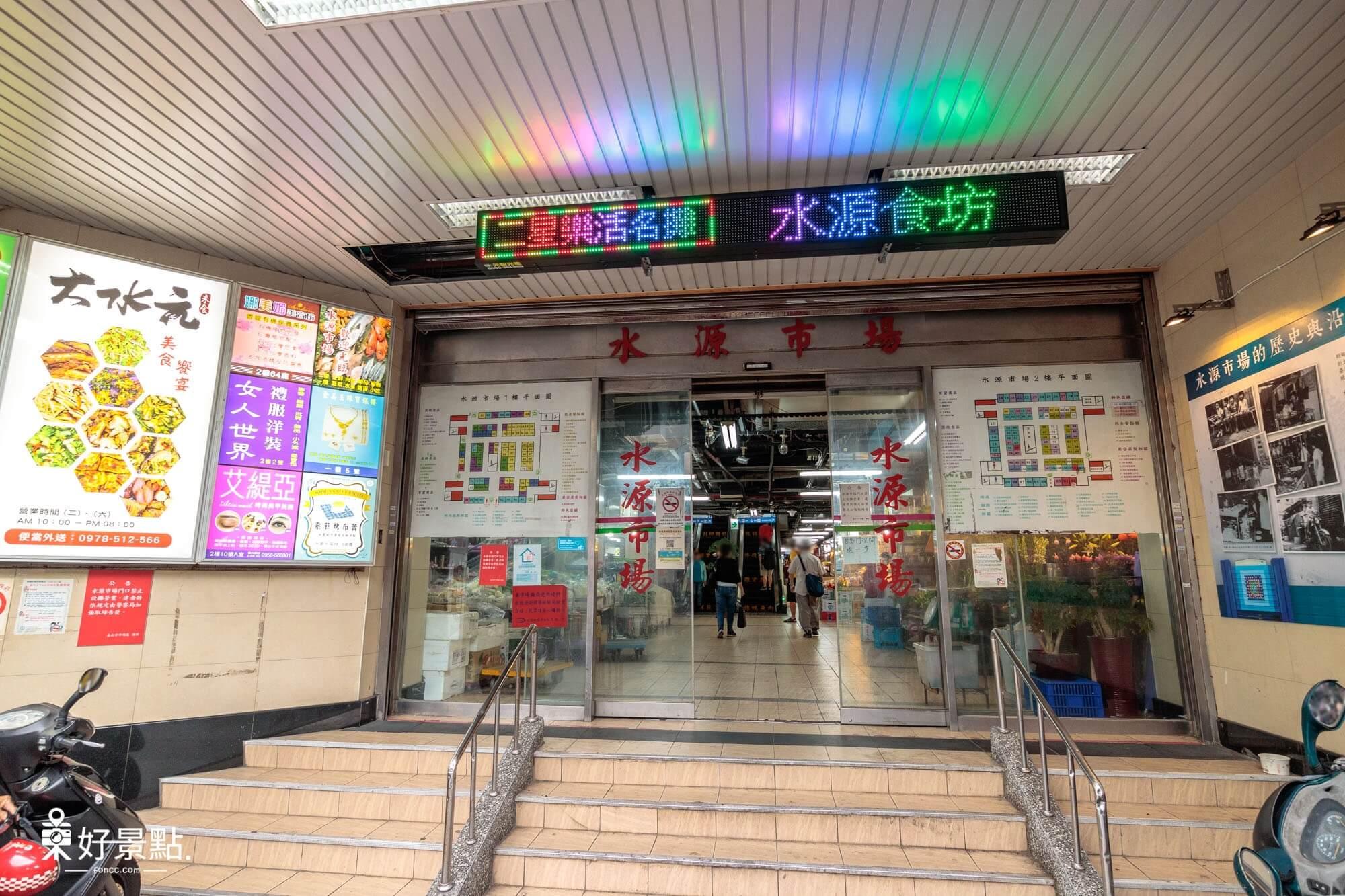 |台北。中正|水源市場-IG打卡熱點_蔚藍色外牆超好拍
