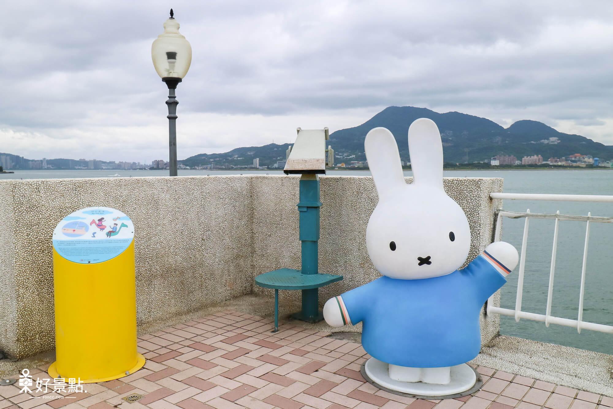 淡水漁人碼頭米飛兔
