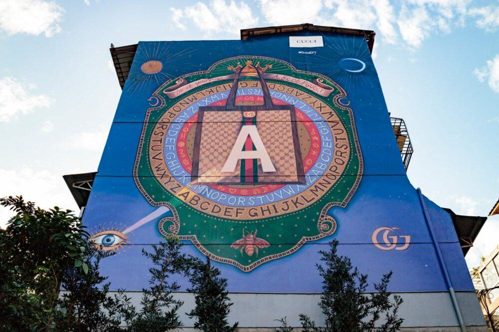 全球第六座 Gucci Art Wall 藝術牆在台北永康街!