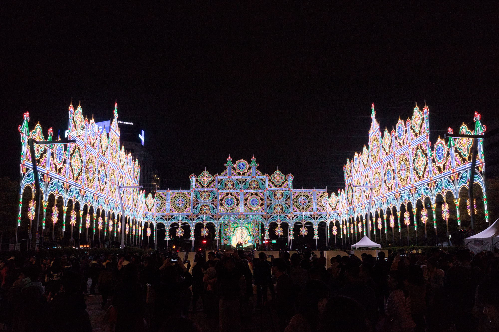 台北信義景點「2019台北光之饗宴光雕展」都市內最華麗壯觀夜景