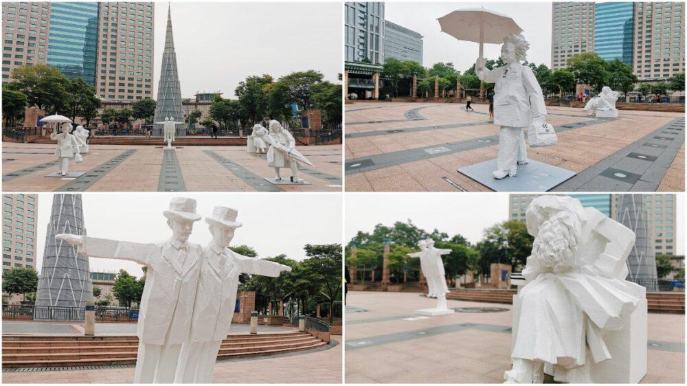 朱銘大師「人間系列-科學家」雕塑展-市民廣場免費展出