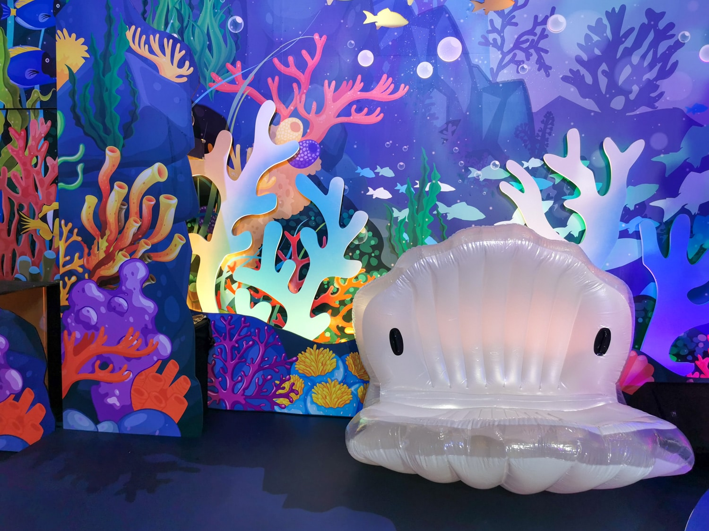 |桃園。蘆竹|2019台茂購物中心-超美海洋風珊瑚聖誕樹!