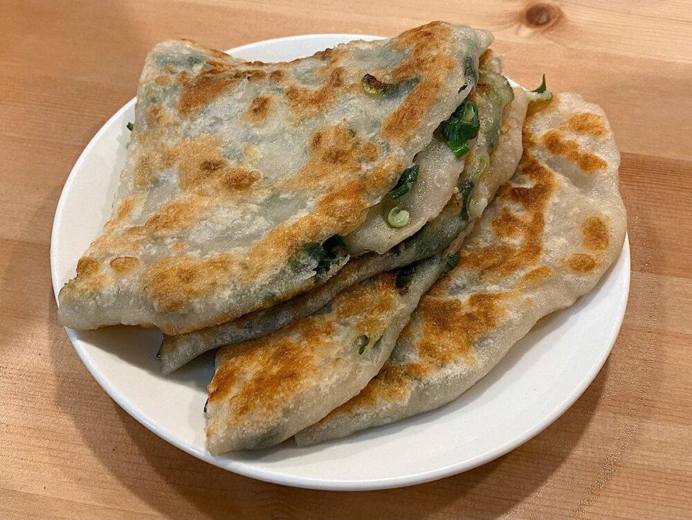 淡水美食推薦「宋朝餡餅粥」三星蔥油餅